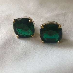 kate spade Square Earrings - Green